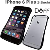 iPhone 6(S)Plus専用 三次元デザインアルミバンパー【Deff】CLEAVE Aluminum Bumper for iPhone 6(S) Plus/DCB-IP6PA6 (ブラック(黒))
