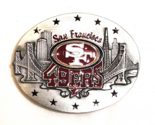 SAN FRANCISCO 49ers NFL COMMEMORATIVE FOOTBALL BELT BUCKLE BY SISKIYOU