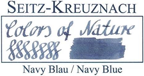 Colors of Nature Pack of 14 Seitz-Kreuznach Ink Cartridges Navy Blue