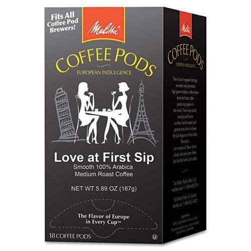 MELITTA USA 75415 Coffee Pods, Love at First Sip (Medium Roast), 18 Pods/Box
