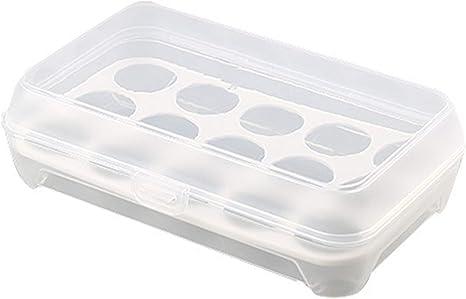 Caja de almacenamiento portátil de 15 huevos de rejilla para refrigerador, contenedor de almacenamiento para camping al aire libre: Amazon.es: Grandes electrodomésticos