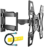 Invision TV Wall Mount Bracket with Tilt and Swivel 20 Inch Articulating Arm/Ultra Slim 1.8-Inch Wall Profile for Most 26-55 Inch LED/LCD/Plasma/4K/3D & Curved Screens (A2/HDTV-L)