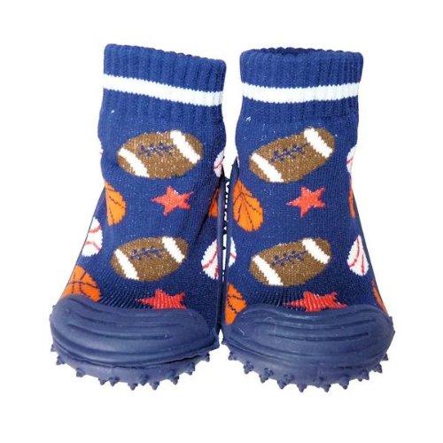 C2BB - Zapatillas-calcetines bebé niño antideslizantes suela flexible para niños | Balones de deporte