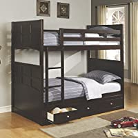 Coaster Home Furnishings 460136 Transitional Bunk Bed, Cappuccino