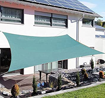 Outsunny Green Square Outdoor Patio Sun Shade Sail Pool Fabric Top Cover Canopy 20 x & Amazon.com : Outsunny Green Square Outdoor Patio Sun Shade Sail ...