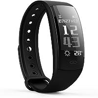 Fitness tracker, Smoh poignet montre moniteur de fréquence cardiaque, Smart d'activité Bracelet Band Sport podomètre avec Étanchéité IP67/contrôle de tension artérielle et sang oxygène moniteur/Camera/moniteur de sommeil/appel Message/calories/prévisions météo