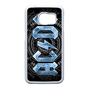 Samsung Galaxy S6 Edge Cell Phone Case White ACDC Plastic Durable Cover Cases NYTY216351