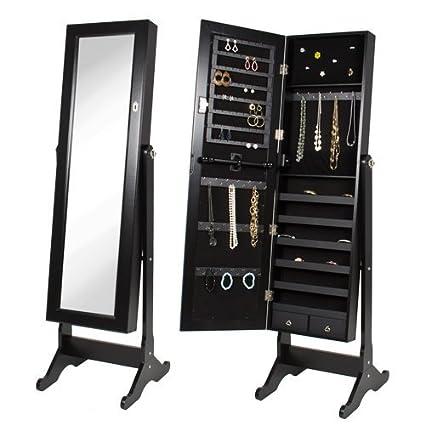 Amazoncom Cheval Mirror and Jewelry Armoire Espresso Kitchen