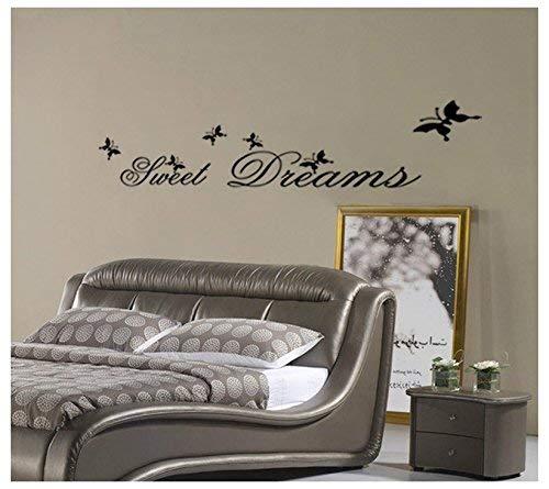 CDKJ Adesivi Murali Frasi Scritte Sweet Dreams Adesivi da Parete Amovibile Decorazione per Muri 25 70cm