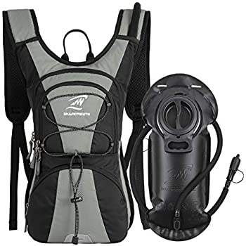 SHARKMOUTH FLYHIKER Hiking Hydration Backpack Pack with 2.5L BPA Free Water Bladder, Lightweight and Comfortable for Short Day Hikes, Day Trips and Trails, ...