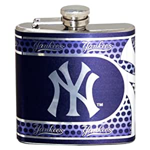 New York Yankees 6 oz Metal Flask with Wrap-Around Graphics