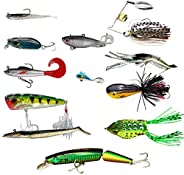 GLL Fishing Lure for Bass Crappie Walleye Pickerel Trout Yellow Perch Bluegills