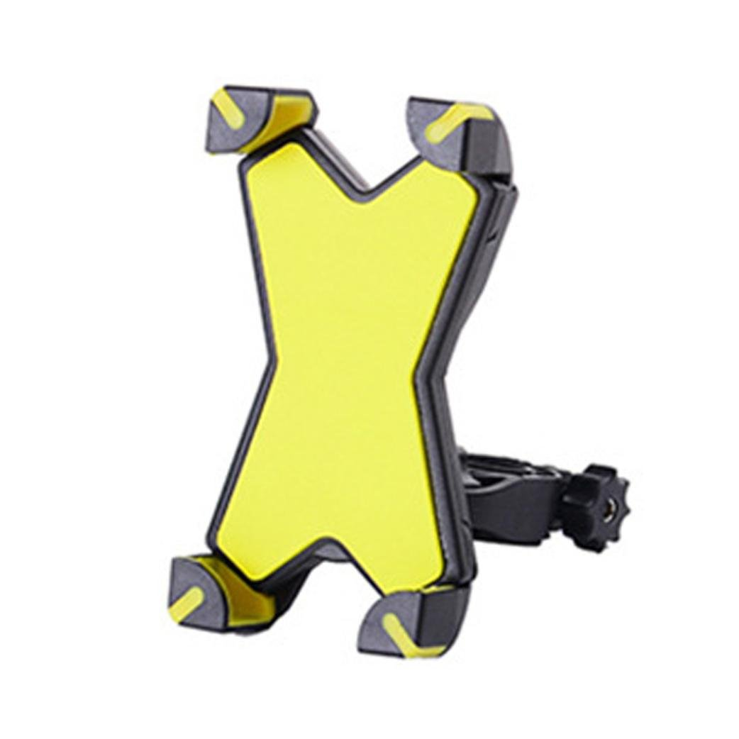 Icocol Bike phone mount,Universal Motorcycle Bike Handlebar Mount Holder For Cell Phone GPS (Yellow)
