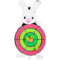 Dartboard para niños Juguete Dibujos animados Tablero de dardos Conjunto,Conejo
