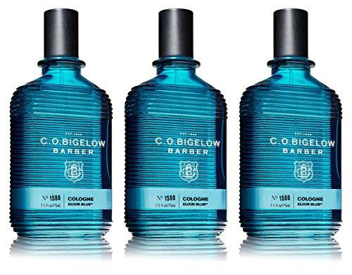 Lot of 3 C.O. Bigelow Elixir Blue 1580 Cologne Spray 2.5 (Bigelow Perfume)