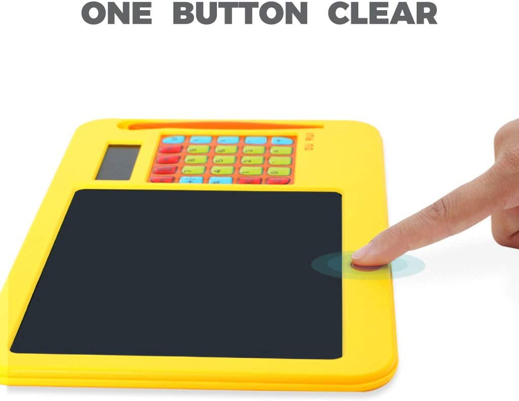 Xeagt Eye Protection LCD Writing Tablet 8.5 Inch Childrens LCD Tablet Erasable Electronic Light Painting with Calculator