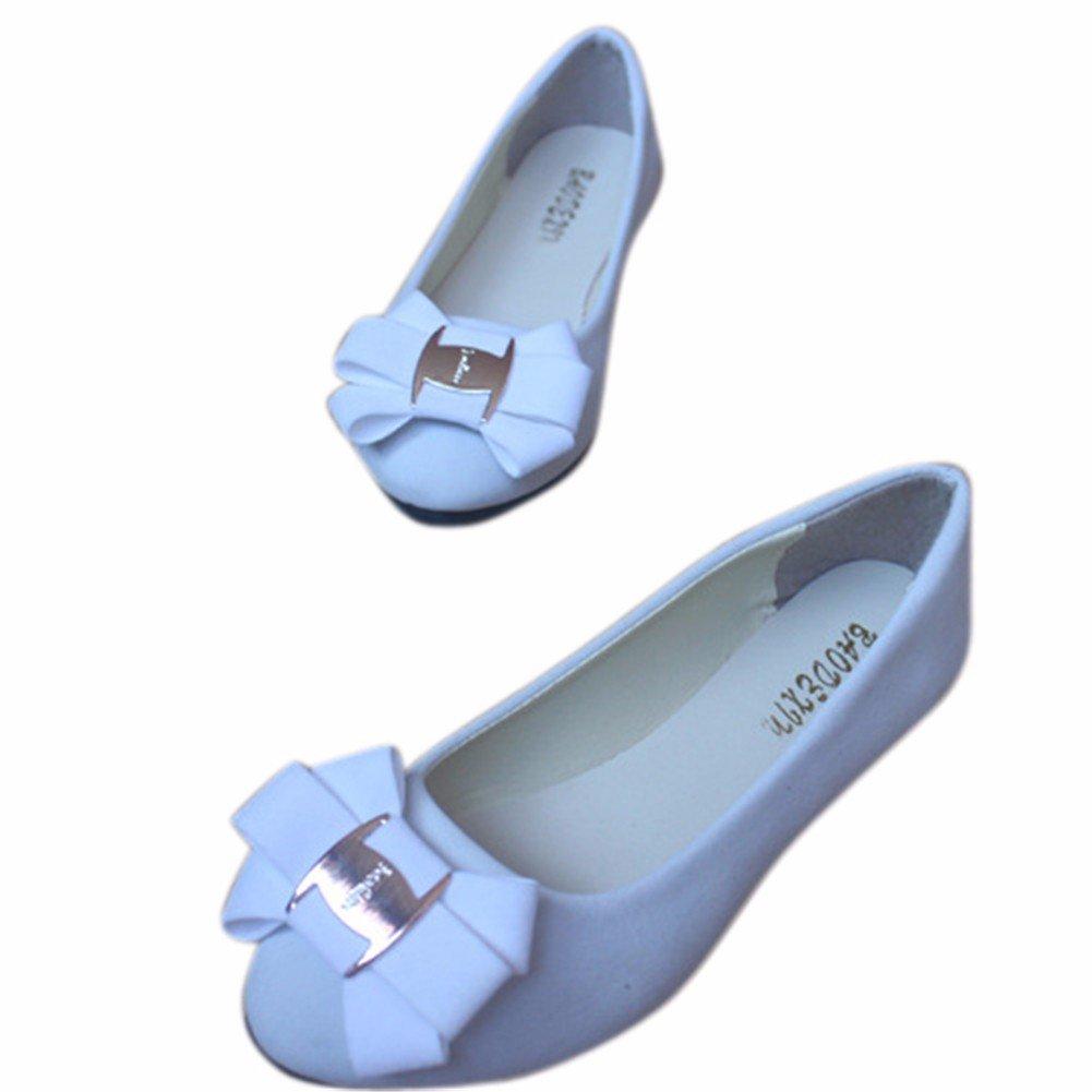 YUCH Damen Einzel Boden Schuhe Süße mit Flachem Boden Einzel Bequem und Flach Mund Freizeitschuhe Weiß 28cee6