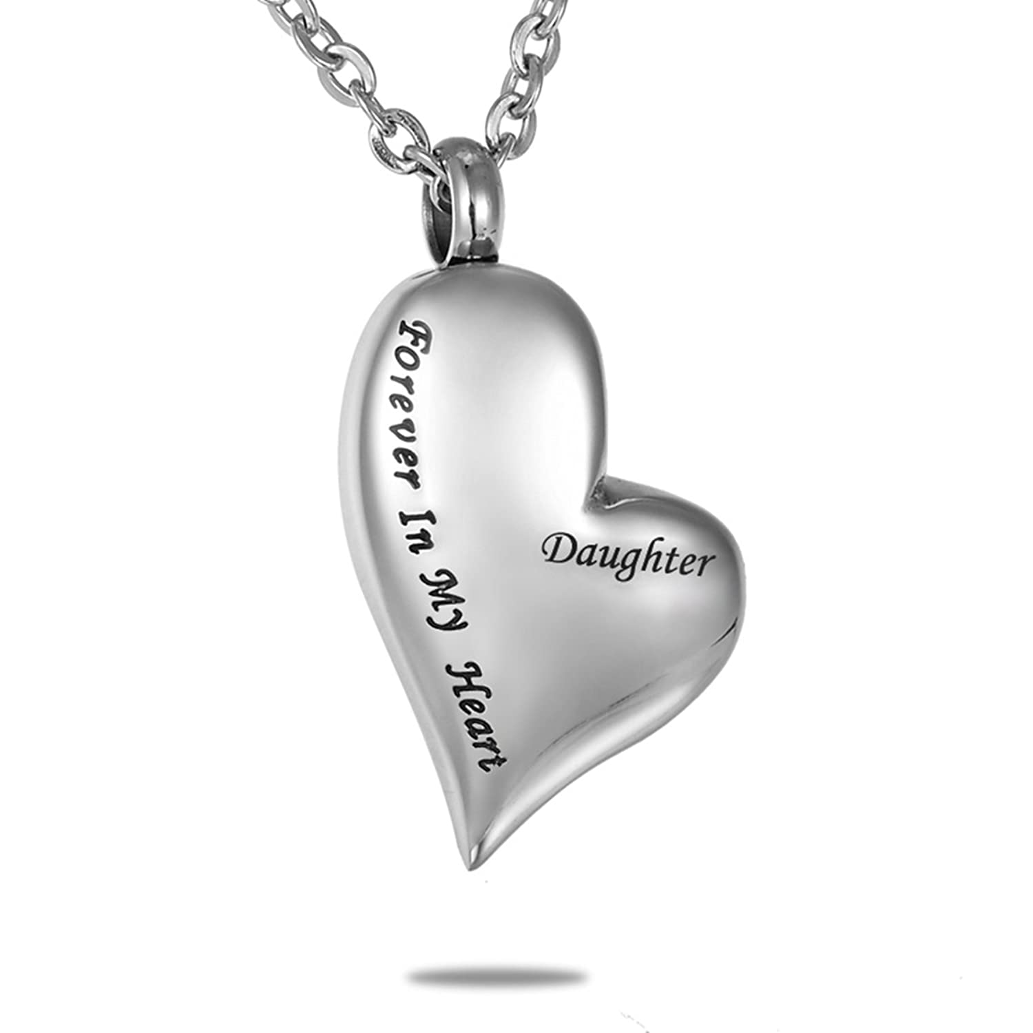 Hooami forever in my heart daughter cremation urn necklace pendant hooami forever in my heart daughter cremation urn necklace pendant memorial keepsake amazon aloadofball Choice Image