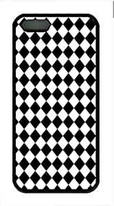 Black And White Prism 3 Cover Case Skin for iPhone 5 5S Soft TPU Black