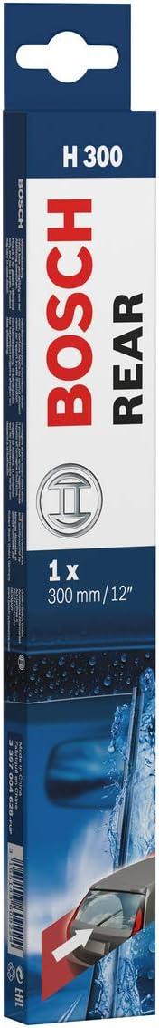 Bosch 3 397 004 990 Spazzola Posteriore 12 W Basics 15 W Rear H304 e USB-A Nero Caricabatterie da auto USB-C