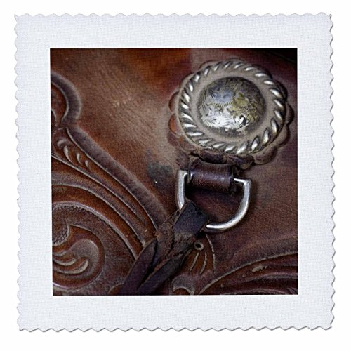 3dRose qs_93547_1 Oregon, Seneca, Ponderosa Ranch. Cowboy Saddle-US38 BJA0355-Jaynes Gallery-Quilt Square, 10 by 10-Inch