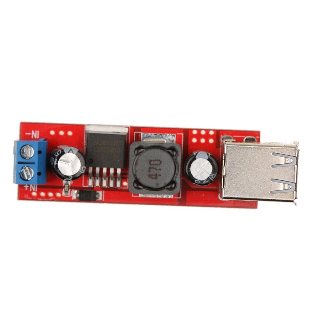 Stromversorgungsmodul f/ür Handy Power Bank Dolity 6V-40V auf USB 5 V Step Down Modul DC-DC Wandler