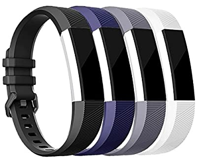 Tobfit Fitbit Alta Bands, Fitbit Alta HR Bands Newest Replacement Silicone Rose Gold / Gold Accessories Wristbands/Watch Buckle for Fitbit Alta HR