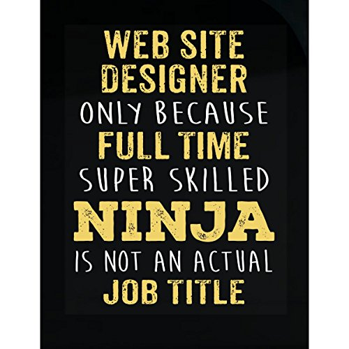 Inked Creatively Best Gift Idea for A Super Skilled Ninja Web Site Designer - Sticker