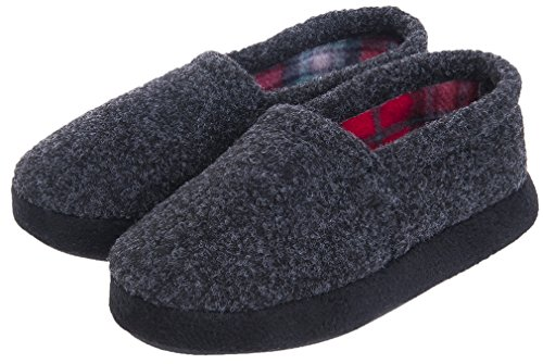 MIXIN Boys Memory Foam Indoor Outdoor Soft Warm Cozy Slip on Non Slip Slippers Shoes