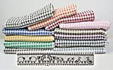 Pack of 6 Tunstead Farm Estate Animal Collection 100% Cotton Terry Tea Towels - Assorted Colours