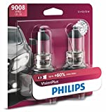 Philips 9008 VisionPlus Upgrade Headlight Bulb with up to 60% More Vision, 2 Pack