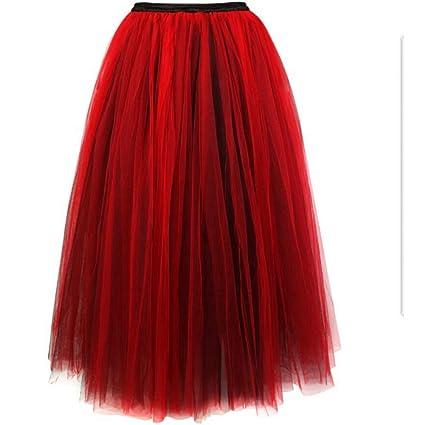 ZJSEHFSD Falda de Mujer Princesa Faldas de Tul Corsés y Bustiers ...