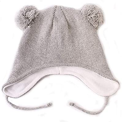 5654309aecfdb Macvise Baby Hat Cute Beanie Earflaps Hat Infant Toddler Girls Boys ...