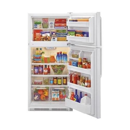 Haier HRT18RCPW 30'' Wire Shelves Top Mount Refrigerator with 18.1 cu. ft. Capacity Dual Knob Mechanical Control Clear Fresh Food Crisper in