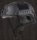 ops core fast carbon helmet - AIRSOFT CARBON PJ TYPE OPS CORE FAST BASE JUMP HELMET + VISOR BLACK ARC RAILS @ HELMET WORLD