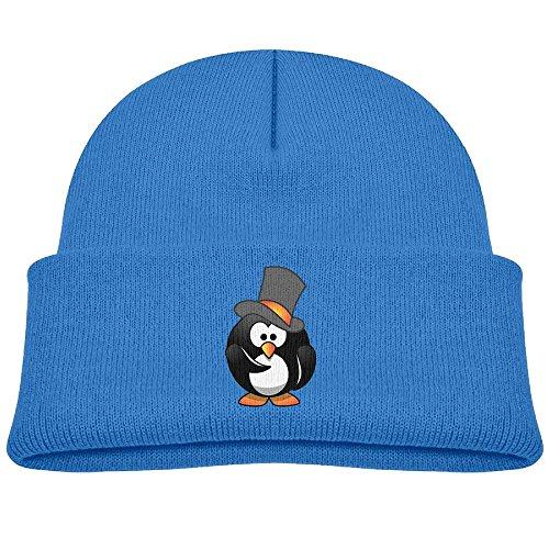 Squishy Frankenstein (Tongbu Cartoon Penguin Kids Winter Warm Knitted Hat Fashion Wool Caps Beanie Children Girls Boys Knit Cap Royalblue)