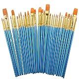 Paint Brush Set by heartybay, 30 pcs Nylon Hair
