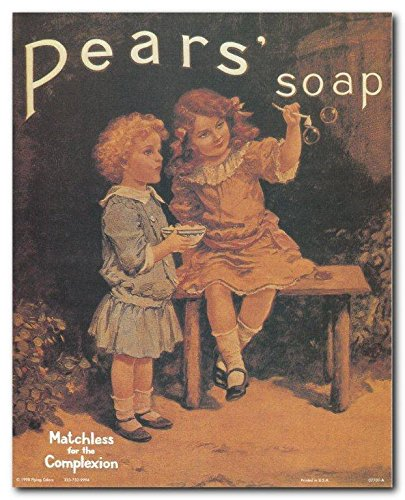 Vintage Pears Soap Ad Advertising Kids Room Wall Decor Art Print Poster (8x10)