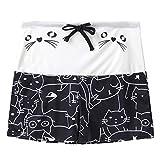 Yoga Leggings 4T, Yoga Leggings Black,Women's Casual Cat Print Drawstring Shorts Leggings
