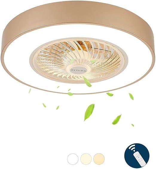 Smotly LED ventilador con control remoto silencioso ventilador ...