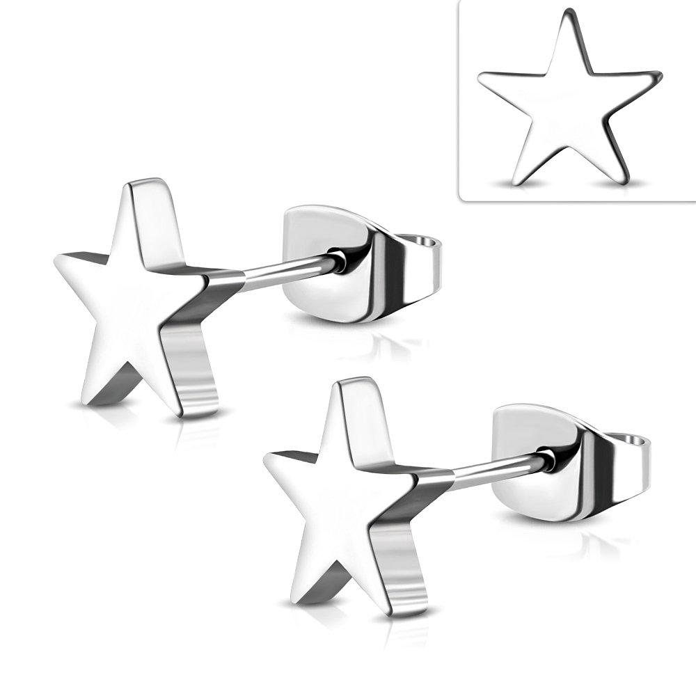 STAR STAINLESS STEEL STUD EARRING