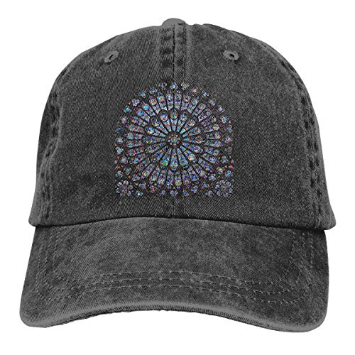 NEWZJCAP -- Notre Dame De Paris Rose Window Unisex Adjustable Hat