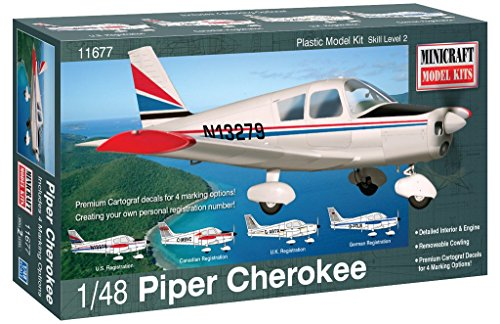 Minicraft Piper Cherokee Airplane Model Kit (1/48 Scale) (48 Aircraft Model)