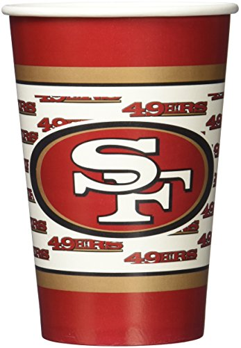 NFL San Francisco 49Ers Disposable Paper Cups (20-Pack)