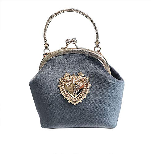 - Nite closet Lolita Handbag Purses for Women Sweet Purse Victorian (Gray)