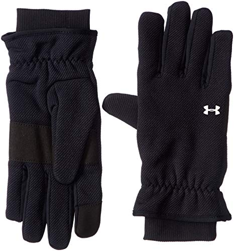 Under Armour Girls Storm Fleece Glove, Black (001)/Black, X-Large