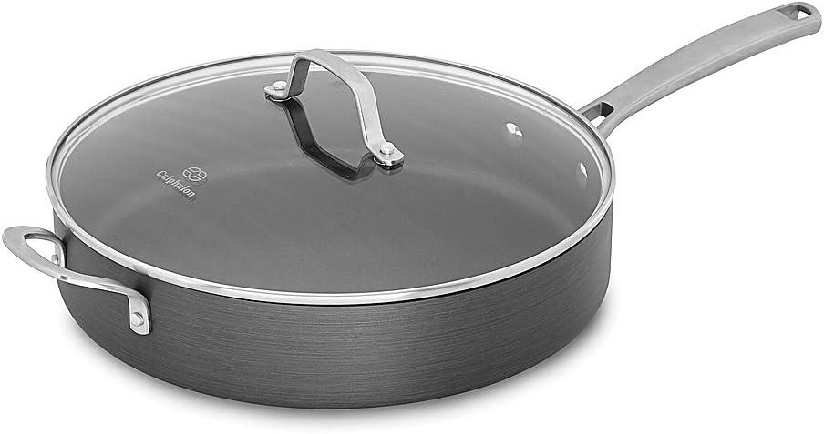Calphalon Classic Nonstick Saute Pan With Cover Grey 5 Quart