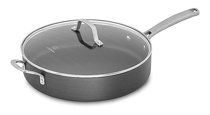Calphalon Classic Nonstick Saute Pan with Cover, 5 quart, Grey best saute pan