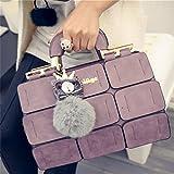 Meolin Fashion Handbag for Women Shoulder Bag Messenger Tote Bag,purple,As Description