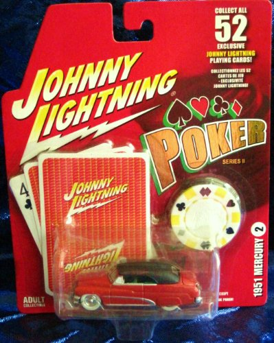 Johnny Lightning 1951 mercury Poker Series II Die Cast Vehicle]()